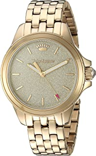 Juicy Couture Women's Malibu Quartz Watch with Gold-Tone-Stainless-Steel Strap, 16 (Model: 1901593)