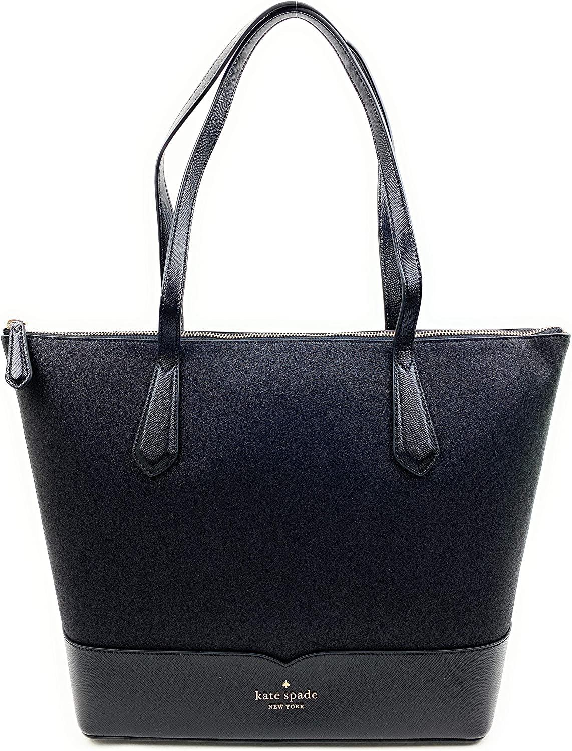 Kate Spade New York Lola Black Glitter tote Large Max 62% OFF National products