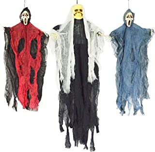 "JOYIN Set van drie opknoping skelet spook Halloween decoraties - een 35"" (88cm) opknoping spookskelet en twee 25"" (63cm) h..."