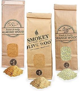 Smokey Olive Wood 3X 300ml, serrín de Madera para ahumar,
