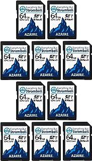 Everything But Stromboli SDXC Speicherkarten, 64 GB, Geschwindigkeitsklasse 10, UHS 1, U3, V30, 64 G, Multipack für kompatible Kamera, Laptop, Videokamera