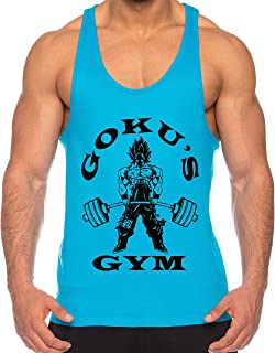 THE LION Goku Golds de los Hombres Camisa del músculo One Goku Dragon Master Son Ball Vegeta Turtle Roshi Piece Gym