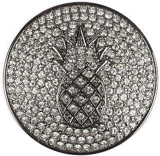 styleBREAKER Colgante de bisutería magnético Redondo con una piña recubierta de estrás para chales, pañuelos o Ponchos, Br...