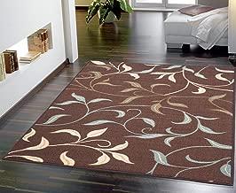 Ottomanson Contemporary Leaves Design Modern Area Rug, 5'0