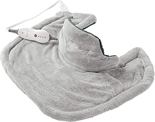 Sunbeam Heating Pad for Neck & Shoulder Pain Relief   Standard Size Renue, 4 Heat Settings with Auto-Off   Grey, 22-I...