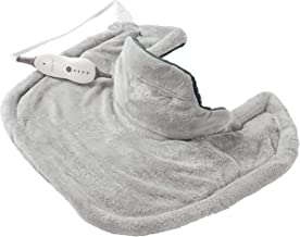 Sunbeam Heating Pad for Neck & Shoulder Pain Relief   Standard Size Renue, 4 Heat Settings with Auto-Off   Grey, 22-Inch x 19-Inch