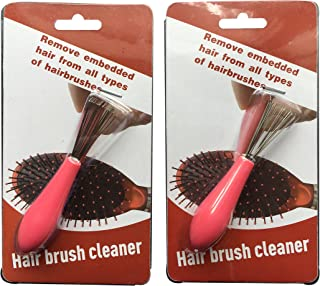 Hair Brush Cleaner Pack of Two 2 Wire Cleaning Rake Combs