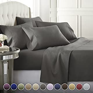 Best grey king size bed sheets Reviews