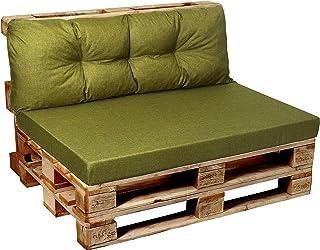 comprar comparacion Cojines para palés de jardín, asiento, respaldo, esquina, juego de cojines para exterior e interior 120x80, 120x60, 120x50...