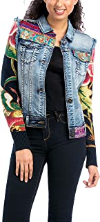 Desigual Women's Woven Jacket with Patchwork Design