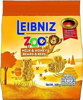 Bahlsen Leibniz Zoo Milk & Honey Biscuits, 100 gm
