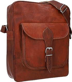 Gusti Handtasche Leder - Andie Umhängetasche Vintage Braun Leder
