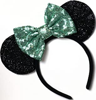 CLGIFT Tiana Mickey Ears, Mint Minnie Ears, Mint Green Mickey Ears, Mint Green Minnie Ears,Unique Minnie