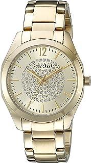 Caravelle New York Women's 44L159 Analog Display Analog Quartz Yellow Watch