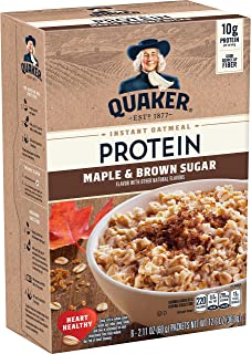 Quaker Instant Oatmeal, Protein Maple Brown Sugar, 10g Protein, (36 Packets)