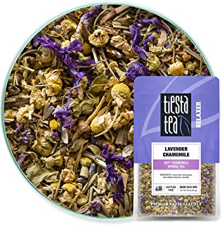 Tiesta Tea - Lavender Chamomile, Loose Leaf Soft Chamomile Herbal Tea, Non-Caffeinated, Hot & Iced Tea, 0.9 oz Pouch - 25 ...
