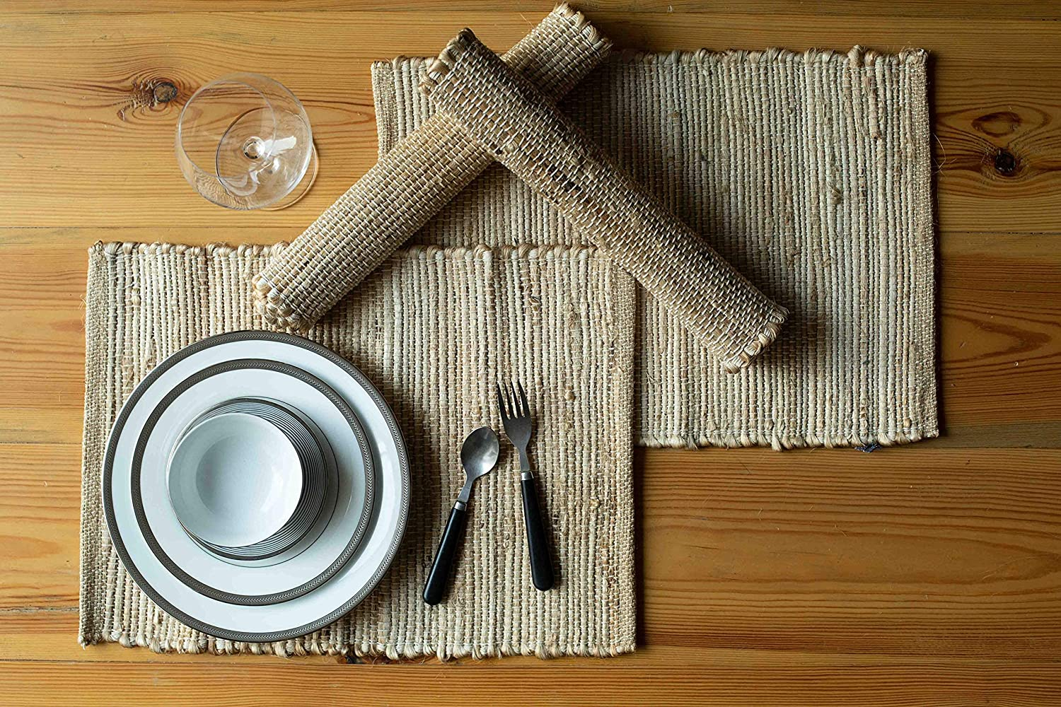 Chardin Max 63% OFF Home Eco-Friendly Natural Jute Online limited product Ru Hemp Table Placemats