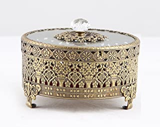 brass trinket box antique