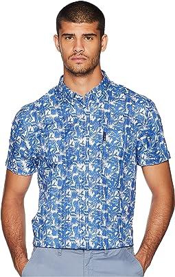 Short Sleeve Tropic Plaid Shirt
