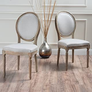 Christopher Knight Home 300258 Phinnaeus Beige Fabric Dining Chair (Set of 2)