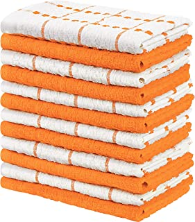 Utopia Towels Kitchen Towels, 15 x 25 Inches, 100% Ring Spun Cotton Super Soft and Absorbent Orange Dish Towels, Tea Towel...