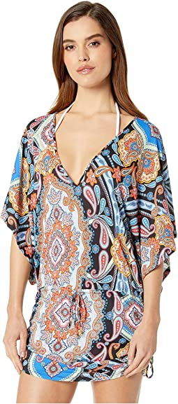 La Maestranza Cabana V-Neck Dress Cover-Up