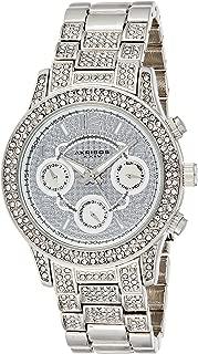 Akribos Xxiv Women's Quartz Watch, Analog Display and Stainless Steel Strap Ak776Ss