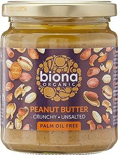 Biona Organic Peanut Butter Crunchy, No Salt, 250 g