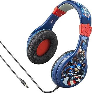 eKids Avengers Assemble Kids Headphones, Adjustable Headband, Stereo Sound, 3.5Mm Jack, Wired Headphones for Kids, Tangle-...
