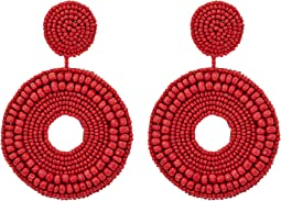 Kenneth Jay Lane - Seedbead Circle Drop Direct Pierced Earrings