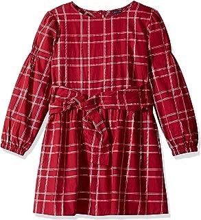 Tommy Hilfiger Girls' Long Sleeve Plaid Dress