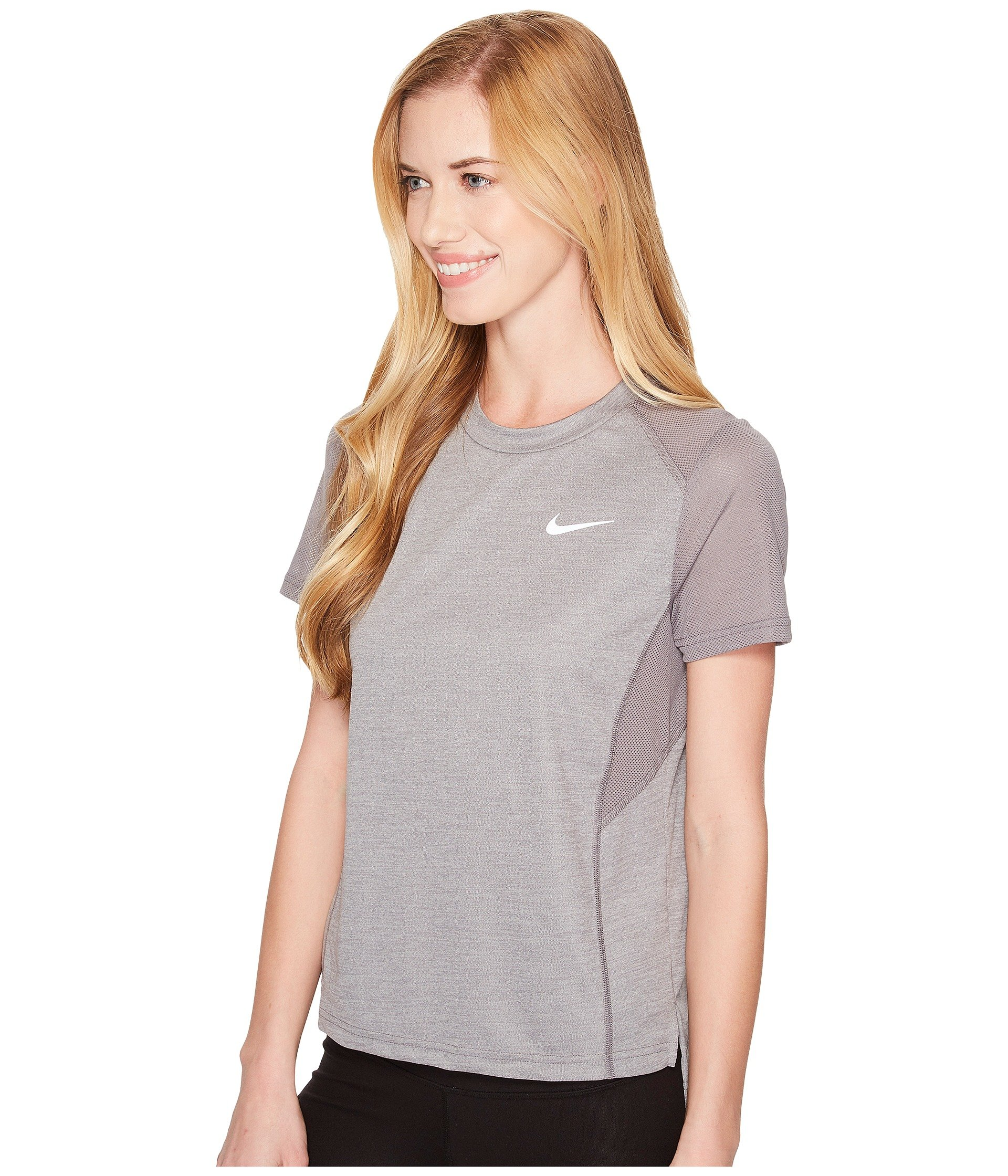 Miler heather Short Dry Gunsmoke Top Running Nike sleeve vCq0wF5