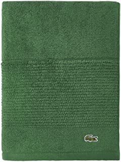 Lacoste Legend - Toalla, Color Azul Marino, Verde (Field Green), Baño, 1, 1