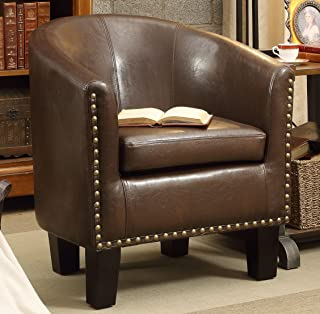 Rosevera C2BN Club Chair, Dark Brown