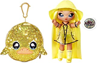 """MGA Entertainment Na Na Na Surprise 2-in-1 Fashion Doll and Sparkly Sequined Purse Sparkle Series – Daria Duckie, 7.5"""" Rai..."""