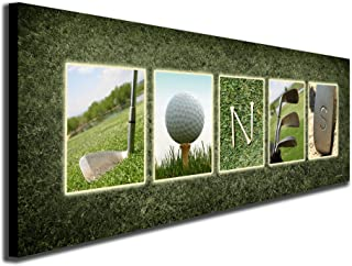SM Block Mount - Personalized Golf Name Art - Perfect and Unique Customized Gift for The Golfer or Golf Enthusiast