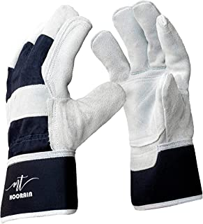 MTHoorain Leather Made Thorn Proof Gardening Gloves for Men and Women, Heavy Duty Gloves Utilizable as Safety Work Gloves,...