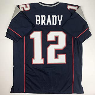 Unsigned Tom Brady New England Blue Custom Stitched Football Jersey Size XL New No Brands/Logos