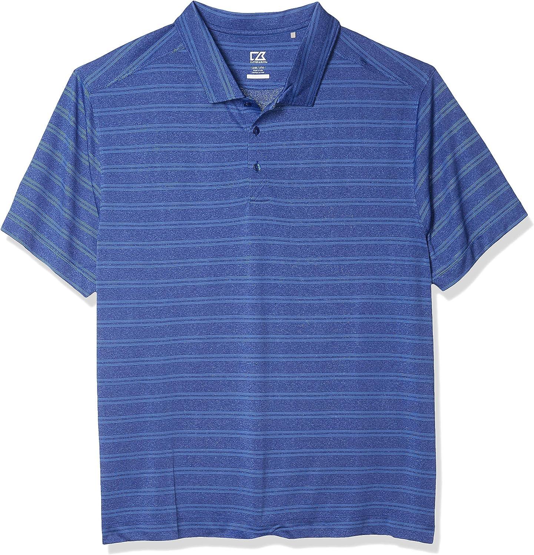 Cutter & Buck Men's Big and Tall Big & Tall Melange Stripe Interbay Polo Shirt