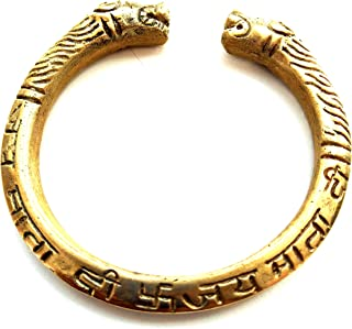 Pure Brass Designer Punjabi Sikh Style Jay MATA DI Kada/Bracelet for Men Adjustale to Any Wrist