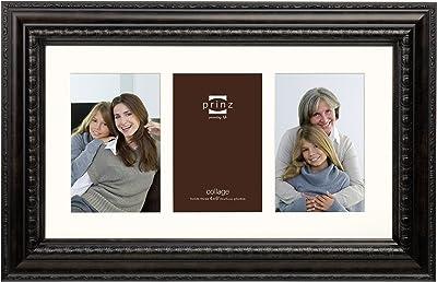 PRINZ Royale 3-Opening Collage Vintage Photo Frame, Brown