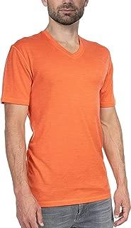 Woolly Clothing Men's Merino Wool V-Neck Tee Shirt - Ultralight - Wicking Breathable Anti-Odor