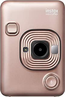 FUJIFILM チェキ インスタントカメラ/スマホプリンター instax mini LiPlay ブラッシュゴールド INS MINI HM1 BLUSH GOLD