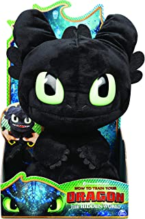 """Dreamworks Dragons, Squeeze & Roar Toothless 11"""" Plush with Sounds, for Kids Aged 4 & Up"""
