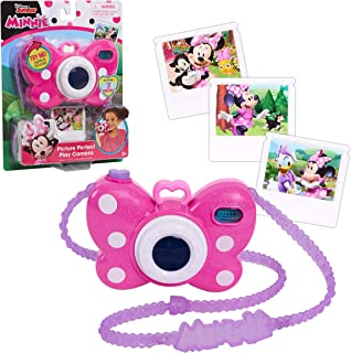 Minnie Mouse Disney Junior Picture Perfect Camera, Lights and Realistic Sounds Pretend Play Toy Camera for 3 Year Old Girl...