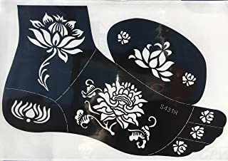 Tattoo Schablone Vorlage Blumen Designs S431R für Körper u