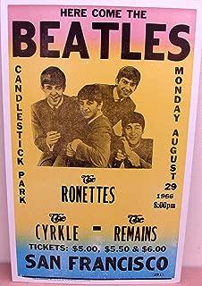 Vintage Beatles Concert Poster 1966, San Francisco, CA