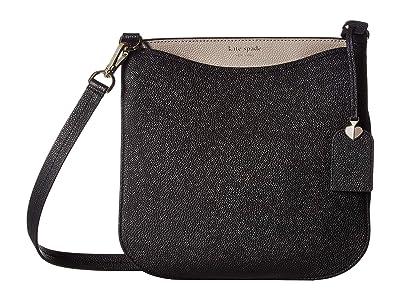 Kate Spade New York Margaux Large Crossbody (Black/Warm Taupe) Handbags
