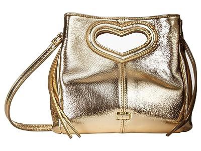Betsey Johnson Open Heart Crossbody (Gold) Cross Body Handbags