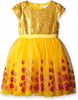 Disney by Tutu Couture Girls' Beauty and the Beast Belle Dress